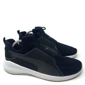 Puma Rebel Slip On Comfort Black Sneaker Shoes 9.5